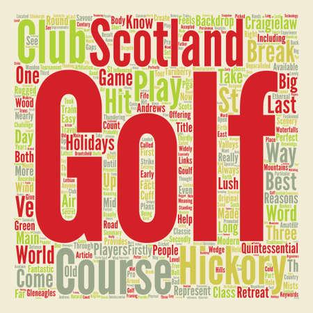古典的なスコットランドでゴルフ テキスト背景単語雲概念  イラスト・ベクター素材