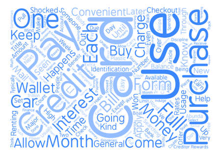 Credit Card Usage Explained text background word cloud concept