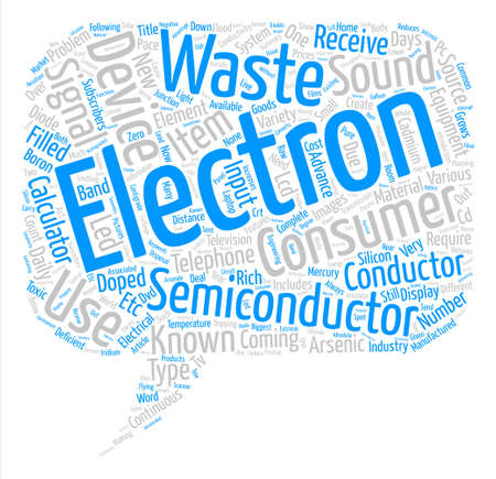 Consumer Electronics Items text background word cloud concept
