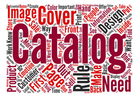 maybe: Rules On Good Catalog Design Word Cloud Concept Text Background
