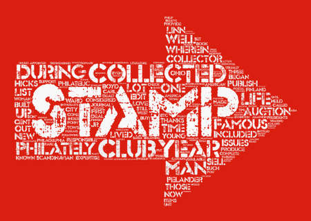 BWS who are some famous stamp collectors text background word cloud concept