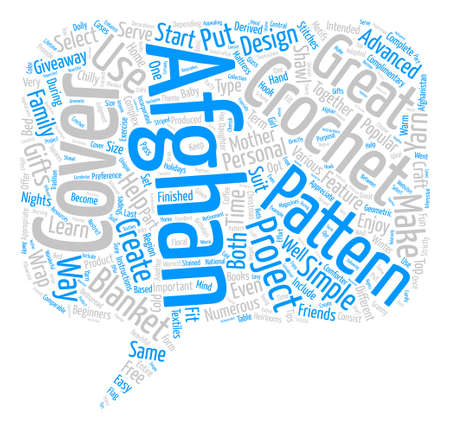 Häkeln Sie Afghanische Muster 1 Text Hintergrund Wordcloud Konzept ...