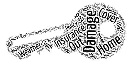 Can Your Home Insurance Stand Up To The Weather Word Cloud Concept Text Background