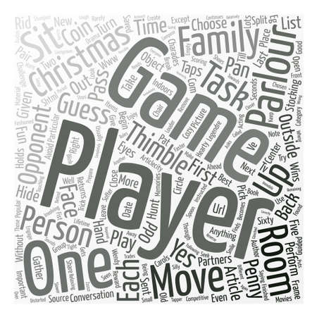parlour games: Christmas Parlour Games text background word cloud concept