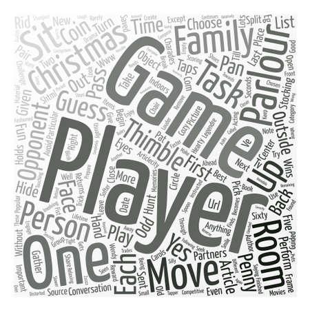 Christmas Parlour Games text background word cloud concept