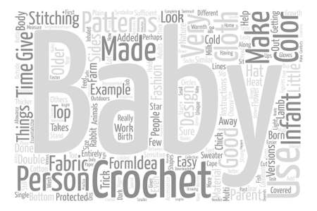 time sensitive: crochet baby patterns text background word cloud concept