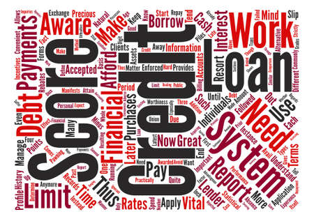 be aware: can credit report score system works text background word cloud concept