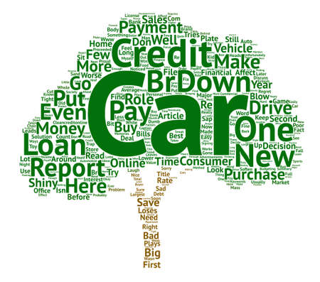 Cars and Credit Reports text background word cloud concept