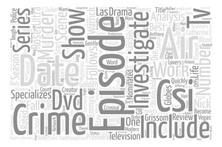nominated: CSI DVD Review Word Cloud Concept Text Background