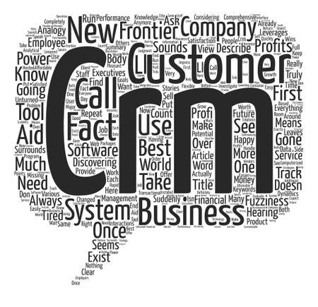 analogy: CRM The New Business Frontier Word Cloud Concept Text Background