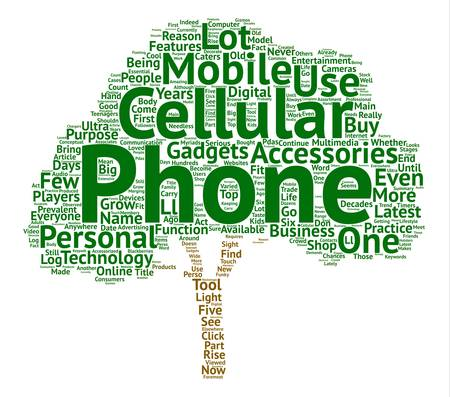 摘要: Cellular Phones And Accessories text background word cloud concept