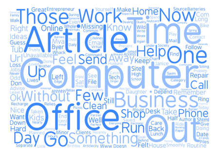 mva: Computer In The Shop What Do You Do Now text background word cloud concept Illustration