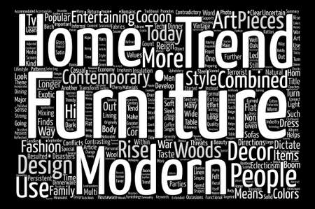 eclecticism: Contemporary Furniture Trends text background word cloud concept