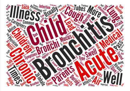 caregivers: bronchitis child text background word cloud concept