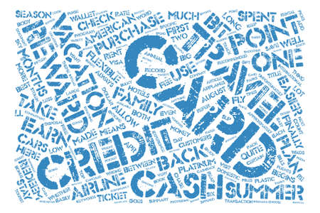 Credit Cards For Summer Vacations text background word cloud concept Illustration