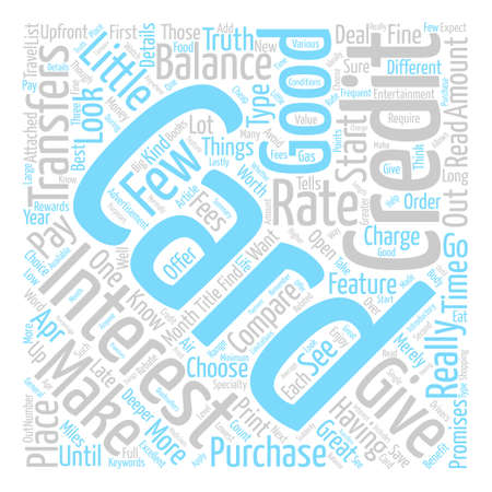 Credit Cards To Avoid text background word cloud concept