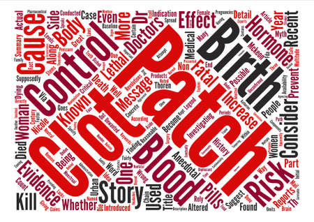 multiple birth: Can Birth Control Patches Kill You Word Cloud Concept Text Background