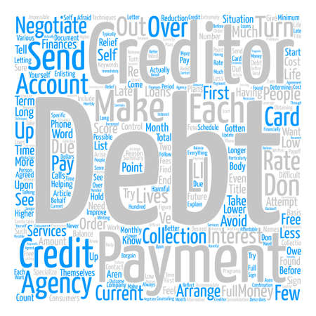 enlisting: Creditor Negotiations text background word cloud concept