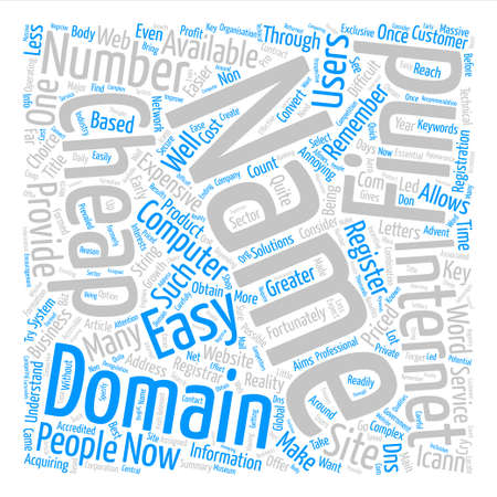 Cheap Domain Names Word Cloud Concept Text Background
