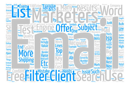 Costly Email Mistakes Word Cloud Concept Text Background Illustration
