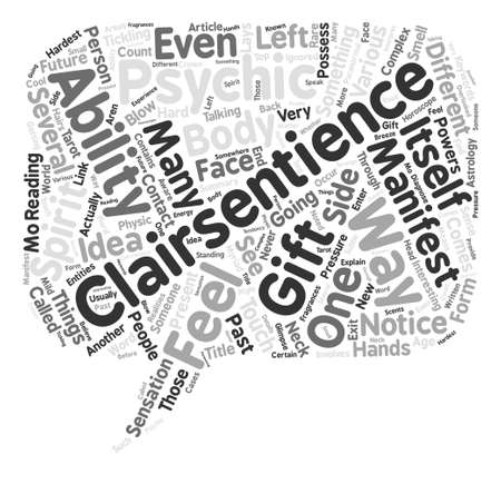 Clairsentience Word Cloud Concept Text Background