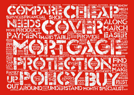 Cheap Mortgage Cover Will Be Easier To Buy From March Word Cloud Concept Text Background Ilustração