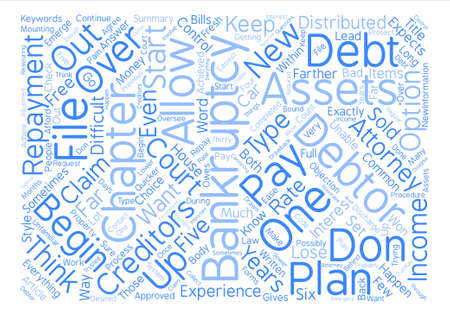 Chapter Or Chapter Bankruptcy Word Cloud Concept Text Background