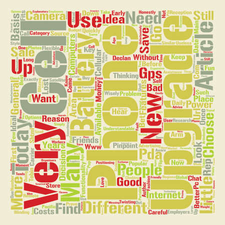 Cell Phone Why Should I Upgrade text background word cloud concept Illustration