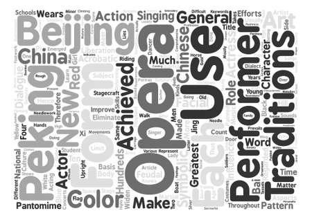 Chinese Opera text background word cloud concept