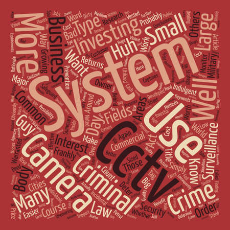 Cctv Camera System Captures You Whether You Like It Or Not text background word cloud concept