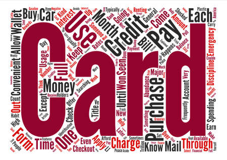explained: Credit Card Usage Explained Word Cloud Concept Text Background
