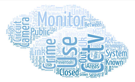 closed circuit television: CCTV Security Systems text background word cloud concept Illustration