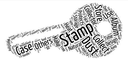 philatelic: case collector stamp Word Cloud Concept Text Background