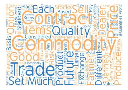 Commodities An Overview text background word cloud concept