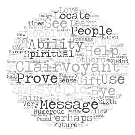 Clairvoyance text background word cloud concept Illustration