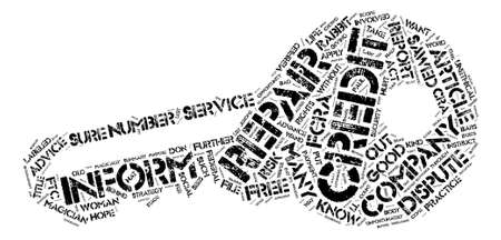 Credit Repair What You Don t Know CAN Hurt You Word Cloud Concept Text Background