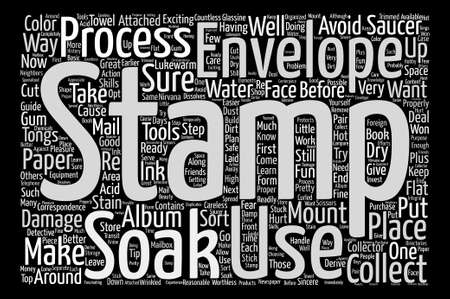nirvana: BWS store sort soak stamps text background word cloud concept Illustration