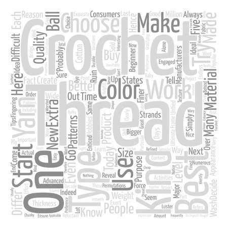 crochet thread text background word cloud concept
