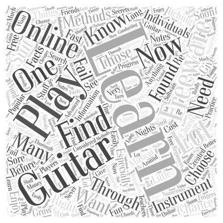freeware: learn to play guitar freeware Word Cloud Concept Illustration