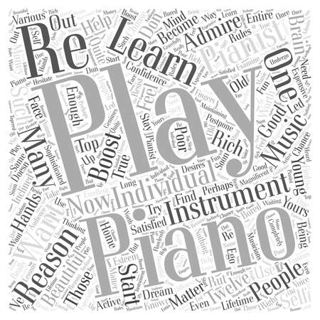 musically: learn piano playing Word Cloud Concept
