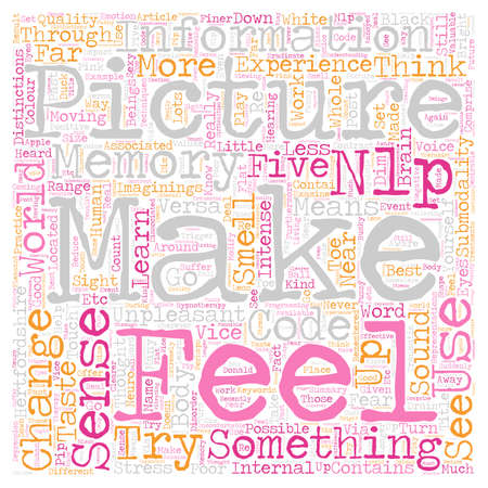 Learn To Make Your Submodalities Work For You text background wordcloud concept