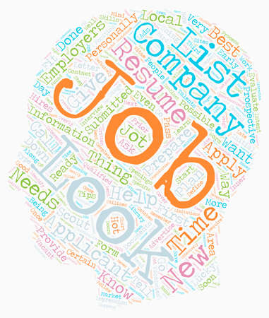 learn how and where to look for jobs dlvy nicheblower com text background wordcloud concept Vettoriali