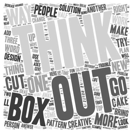 here's: learn to think outside the box dlvy nicheblower com text background wordcloud concept