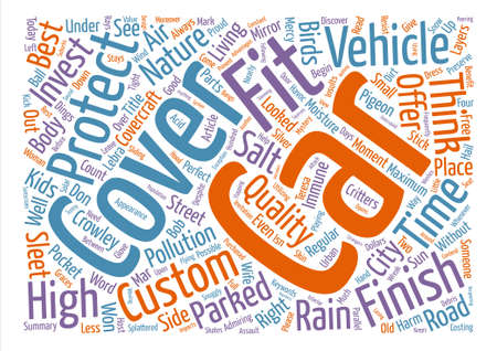 sleet: Custom Car Covers For That Perfect Fit Word Cloud Concept Text Background