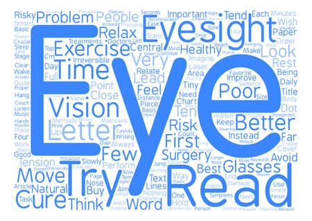 Behandel Slechte Zicht Word Cloud Concept Text Background