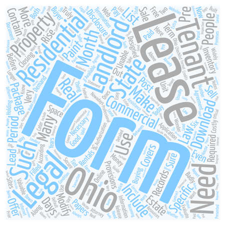 Legal Forms For Landlords In Ohio Text Background Wordcloud Concept - Ohio legal forms