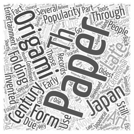 developed: The Origins of Origami Word Cloud Concept