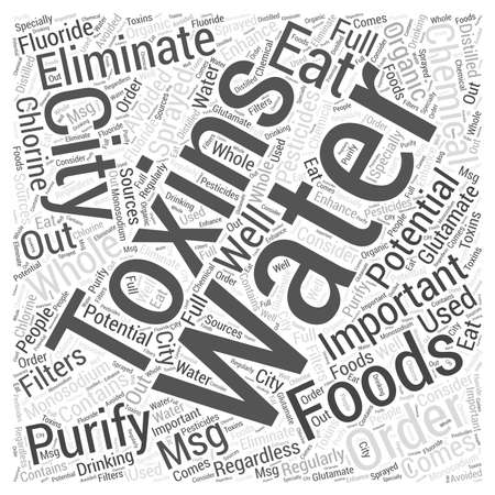 glutamate: The importance of eliminating toxins Word Cloud Concept
