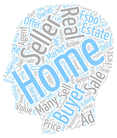 Three Ways FSBO Sellers Stumble text background wordcloud concept Illustration