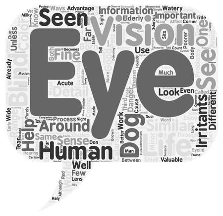 Through the Eyes of Your Dog text background wordcloud concept 向量圖像